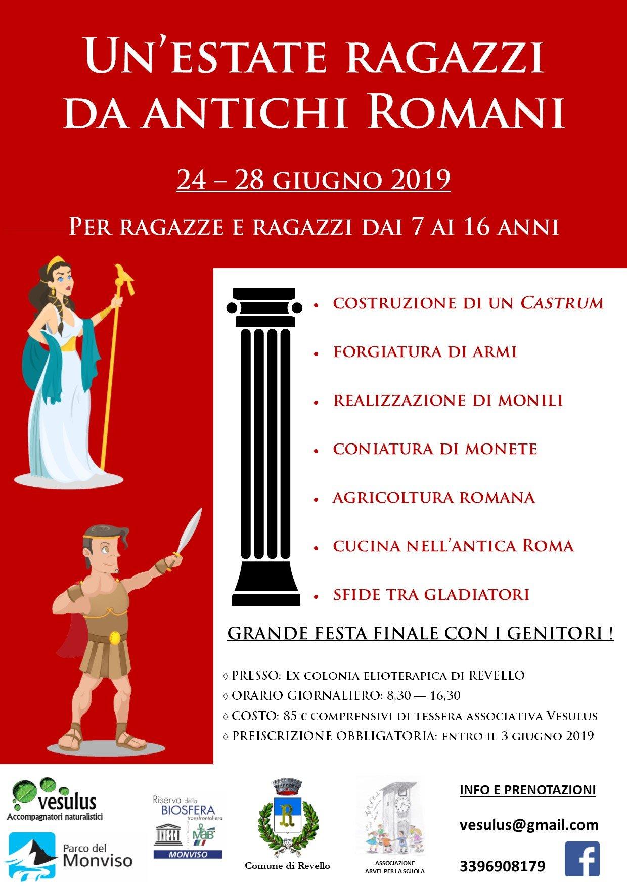 24-28 Giugno '19: Un'estate ragazzi da Antichi Romani