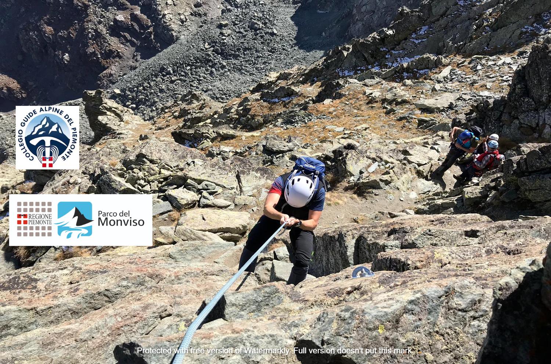 Corso base di alpinismo sotto il Monviso