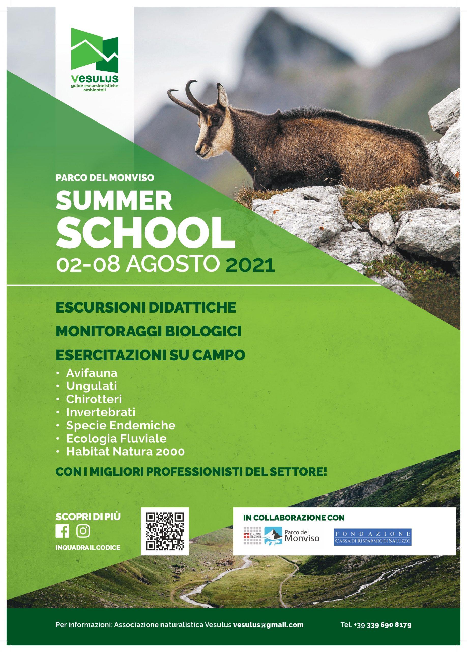 2-8 agosto 2021: Monviso Summer School 4^ edizione